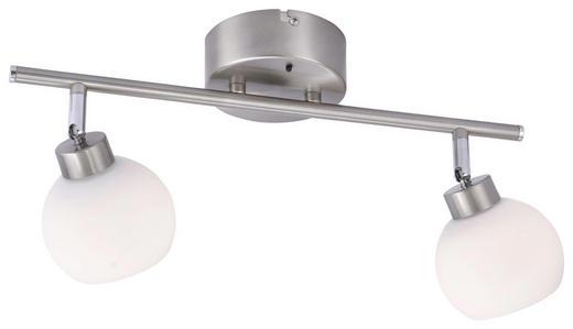 LED-STRAHLER - Weiß/Nickelfarben, Basics, Metall (52,5/22,5/20cm)