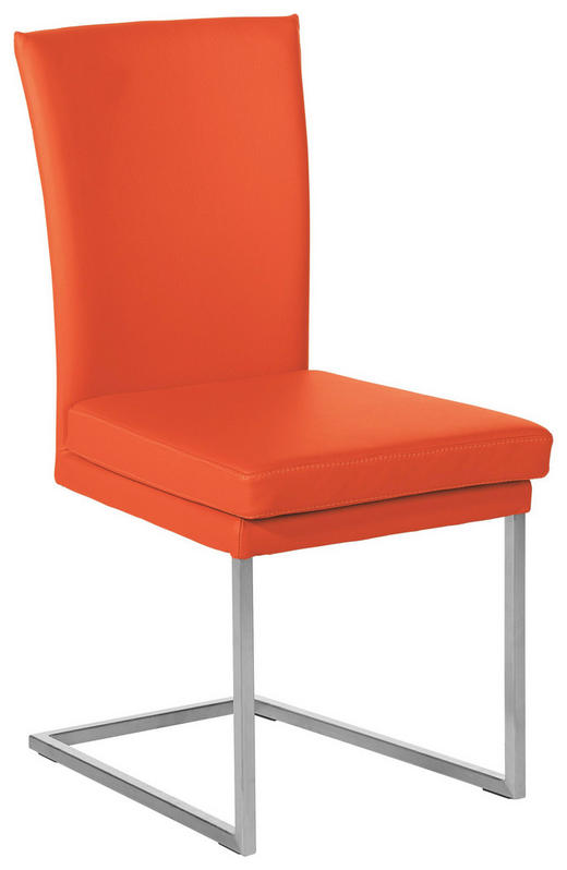SCHWINGSTUHL Echtleder Orange - Orange, Design, Leder/Metall (47/95/57cm) - Musterring