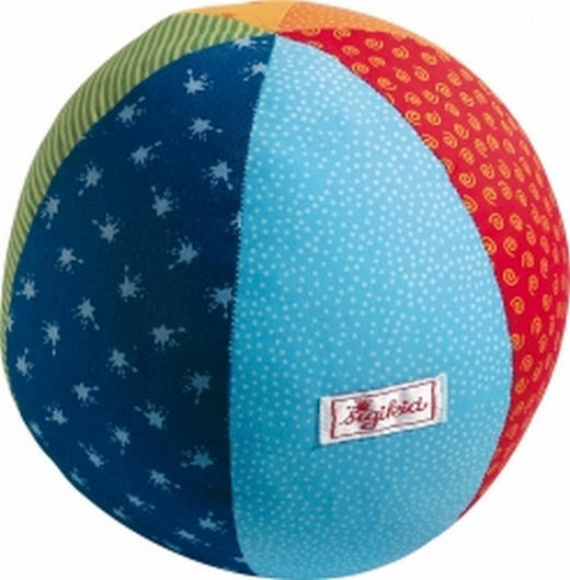 STOFFBALL - Multicolor, Basics, Textil (23cm) - Sigikid
