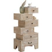 KOMODA - bílá/bronzová, Trend, kov/dřevo (58/118/40cm) - Ambia Home