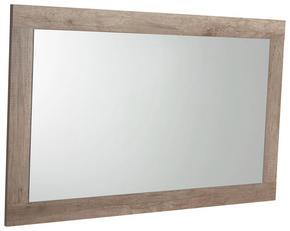 VÄGGSPEGEL - ekfärgad, Design, trä (110/68/2cm)