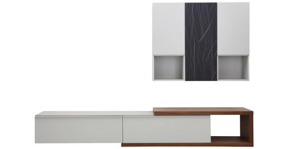WOHNWAND in Eichefarben, Grau, Weiß - Eichefarben/Weiß, Design, Holzwerkstoff (300/194/47cm) - Dieter Knoll