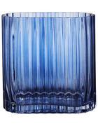 VASE 14 cm  - Blau, Trend, Glas (14cm)