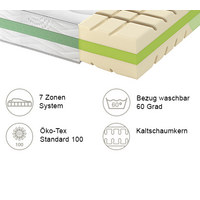 KALTSCHAUMMATRATZE ROAD 290 COMFEEL PLUS 90/200 cm  - Weiß, Basics, Textil (90/200cm) - Schlaraffia