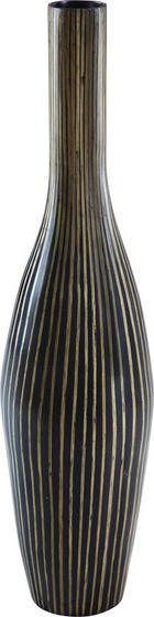 VÁZA - černá/hnědá, Natur, dřevo (27/110cm) - Ambia Home