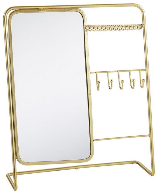 SCHMUCKHALTER+KOSMETIKSPIEGEL - Goldfarben, Basics, Metall (27/33cm)
