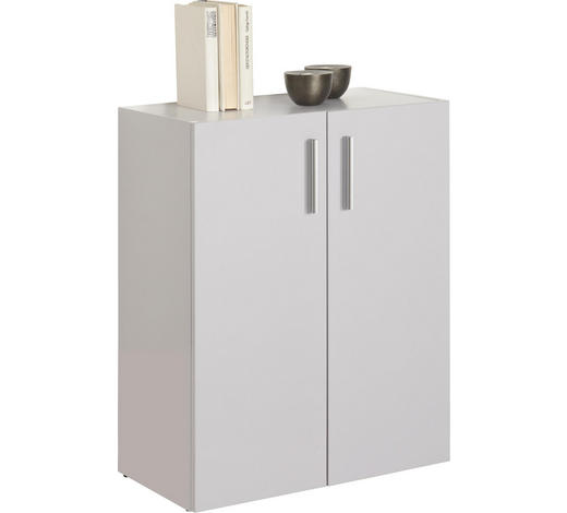 KOMMODE 60/76,8/33,6 cm  - Alufarben/Schwarz, Design, Holzwerkstoff/Kunststoff (60/76,8/33,6cm) - Carryhome