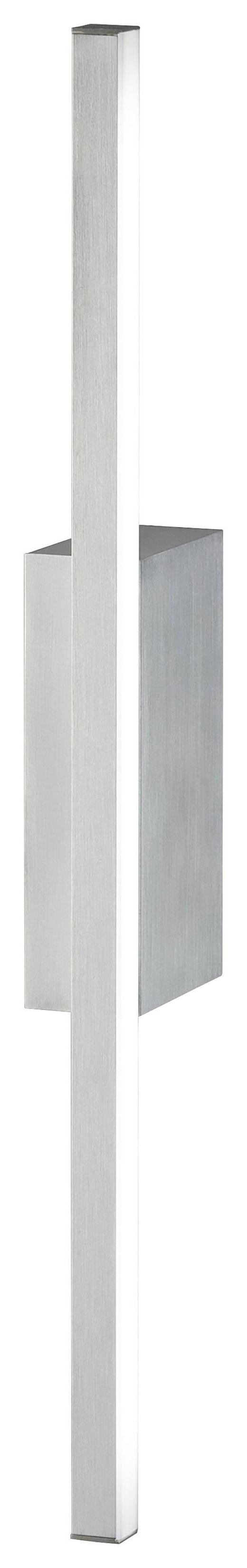 LED-WANDLEUCHTE - Alufarben, Design, Metall (49,4/9,4/4cm)
