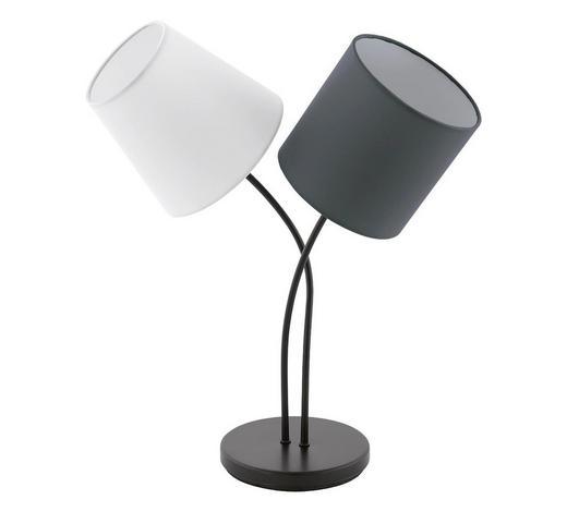 LAMPA STOLNÍ - bílá/černá, Design, kov/textil (38/18,5/47,5cm)