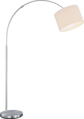 STEHLEUCHTE - Weiß, Design, Textil/Metall (30/215cm)