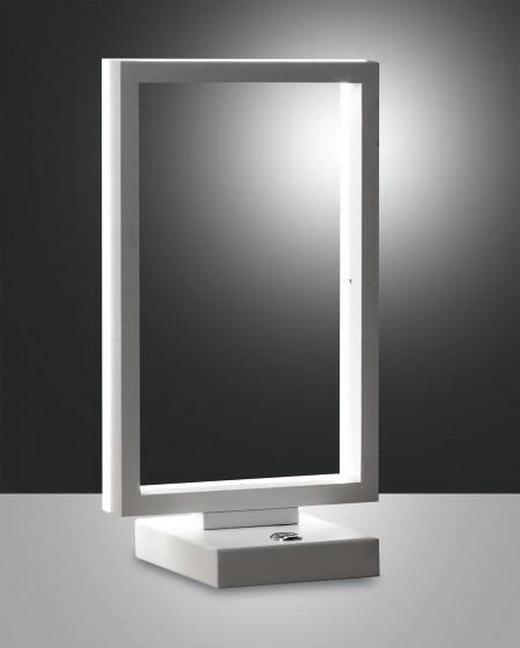 TISCHLEUCHTE - Weiß, Design, Kunststoff/Metall (17/30cm)