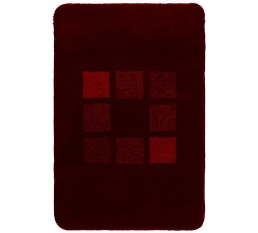 BADTEPPICH  Rot      - Rot, KONVENTIONELL, Kunststoff/Textil (60/90cm) - Kleine Wolke
