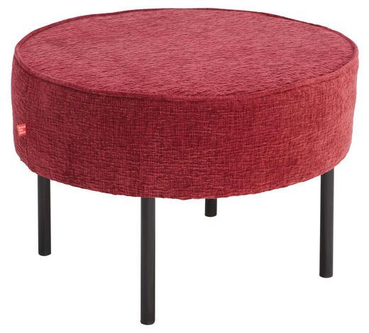 HOCKER in Textil Rot - Rot/Schwarz, Design, Textil/Metall (60/40cm) - Lomoco