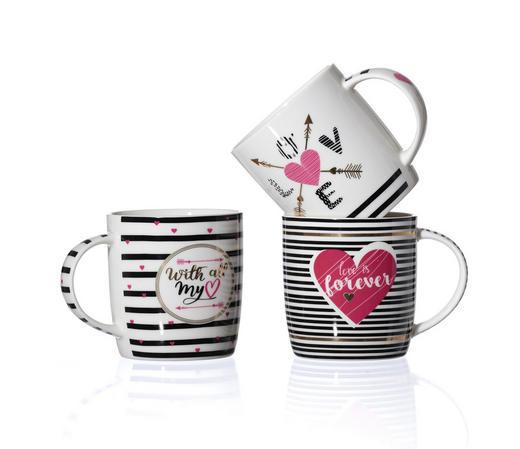 KAFFEEBECHER 400 ml - Klar/Pink, Trend, Keramik (16/13/9cm) - Ritzenhoff Breker