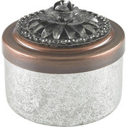 DOSE - Silberfarben/Kupferfarben, Basics, Glas/Metall (8/8cm) - Ambia Home
