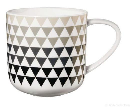 KAFFEEBECHER - Schwarz/Weiß, Trend, Keramik (9,2/9,5cm) - ASA