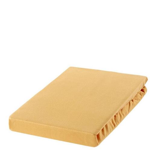 SPANNBETTTUCH Zwirn-Jersey Sandfarben bügelfrei, für Wasserbetten geeignet - Sandfarben, Basics, Textil (200/200cm) - ESTELLA