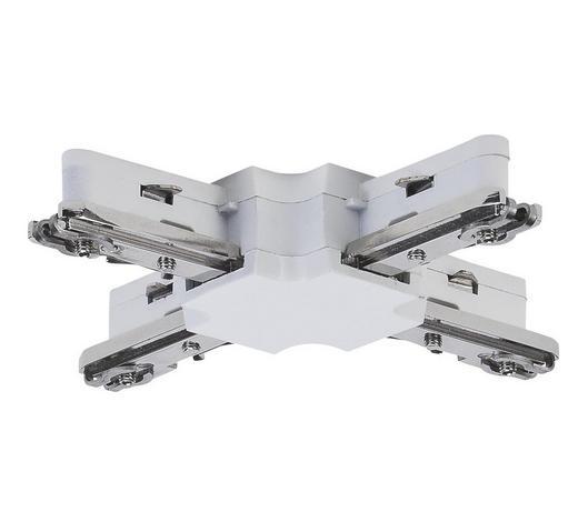 URAIL SCHIENENSYSTEM-VERBINDER   - Weiß, Design, Kunststoff/Metall (10,4/1,8/10,4cm)