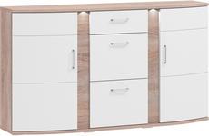 SIDEBOARD - Eichefarben/Alufarben, Basics, Glas/Holzwerkstoff (163,7/94/40,4cm) - Xora