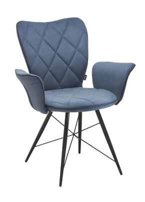 KARMSTOL - blå/grå, Design, metall/textil (57,5/89,5/61cm) - Hom`in