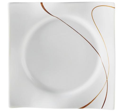 TALÍŘ DEZERTNÍ, porcelán - bílá/hnědá, Design, keramika (20,5cm) - Ritzenhoff Breker