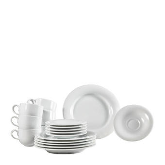 KAFFEESERVICE 18-teilig - Weiß, Basics, Keramik - Novel
