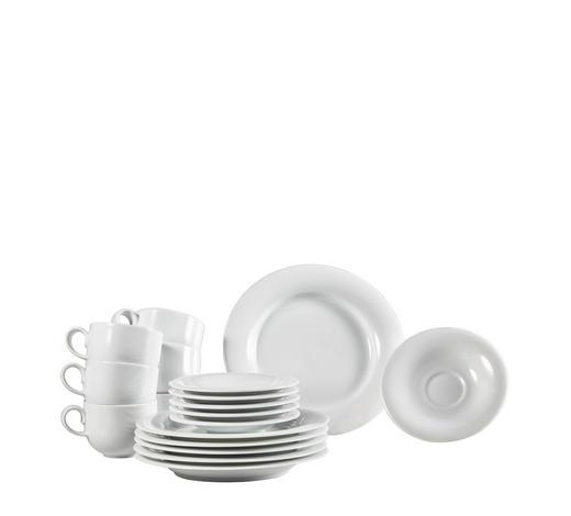 Porzellan  KAFFEESERVICE 18-teilig   - Weiß, Basics, Keramik - Novel