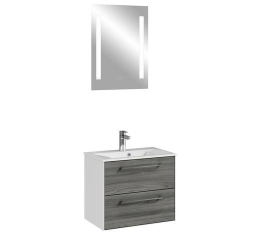 BADEZIMMER Weiß  - Weiß/Grau, KONVENTIONELL, Naturmaterialien (61,8/200/44,7cm) - Carryhome