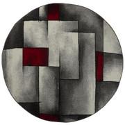 VÄVD MATTA - vit/röd, Klassisk, textil (160cm) - NOVEL