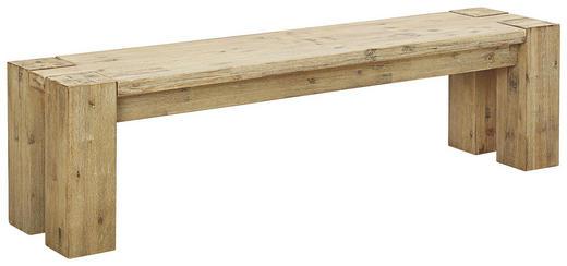 SITZBANK Akazie massiv Akaziefarben - Akaziefarben, Design, Holz (170/45/38cm) - Carryhome