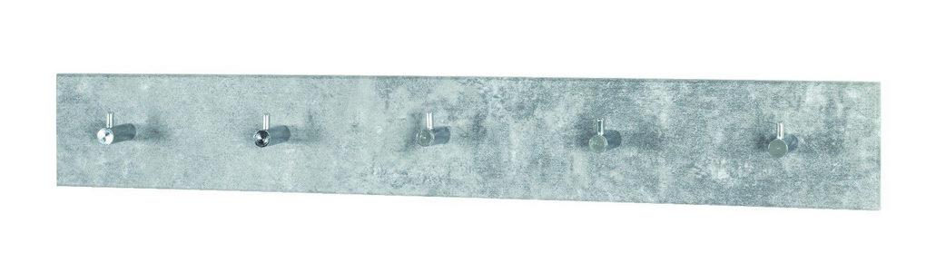 DAŠČICA ZA ODLAGANJE KAPUTA - Siva/Boje hroma, Dizajnerski, Metal/Pločasti materijal (57/8/5cm)