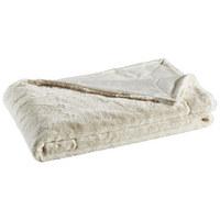 FELLDECKE 150/200 cm - Beige, KONVENTIONELL, Textil (150/200cm) - Novel