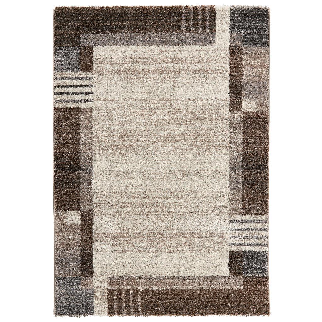 Novel Webteppich 160/230 cm grau, beige , Denver , Textil , Bordüre , 160 cm , in verschiedenen Größen erhältlich , 008065015964