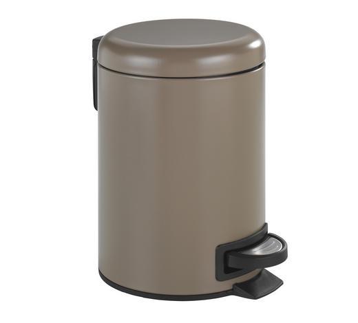 TRETEIMER 3 L  - Schwarz/Braun, Basics, Kunststoff/Metall (17/25cm)