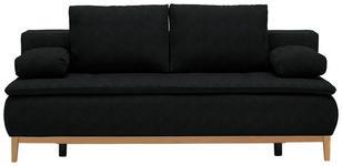 BOXSPRINGSOFA in Textil Anthrazit  - Eichefarben/Anthrazit, MODERN, Holz/Textil (202/78/93/100cm) - Venda