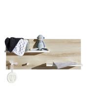 WANDREGAL MATHILDA - Naturfarben/Weiß, KONVENTIONELL, Holz/Holzwerkstoff (94/38/17cm) - My Baby Lou
