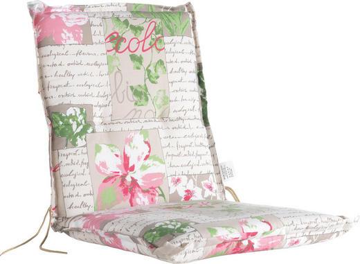 SESSELAUFLAGE Blume - Beige/Rosa, KONVENTIONELL, Textil (50/100/6cm)