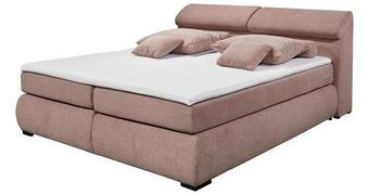 POSTELJA BOXSPRING 180 cm   x 200 cm  , tekstil, leseni material pastelno roza  - roza/črna, Moderno, umetna masa/tekstil (236/105/194cm) - Hom`in