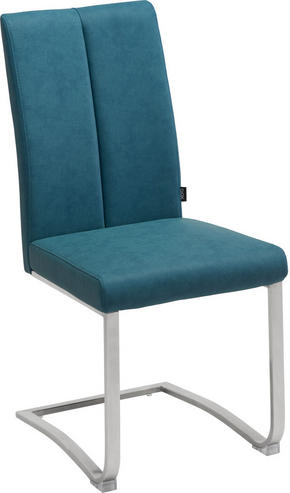 SVIKTSTOL - turkos/rostfritt stål-färgad, Design, metall/textil (43,5/95/62cm) - Xora