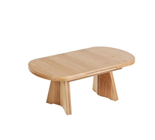 COUCHTISCH in Holz, Metall, Holzwerkstoff 125(165,5)/71/54-73 cm   - Eichefarben, KONVENTIONELL, Holz/Holzwerkstoff (125(165,5)/71/54-73cm) - Venda