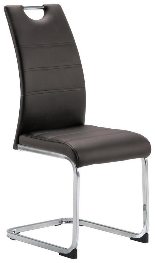 SCHWINGSTUHL Lederlook Chromfarben, Taupe - Taupe/Chromfarben, Design, Textil/Metall (42/99/56cm) - Carryhome