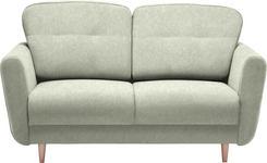 ZWEISITZER-SOFA in Creme Textil - Creme, Design, Holz/Textil (154/90/93cm) - Hom`in