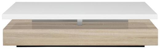 COUCHTISCH Eichefarben, Weiß - Eichefarben/Weiß, Basics (117/58/29cm) - Carryhome