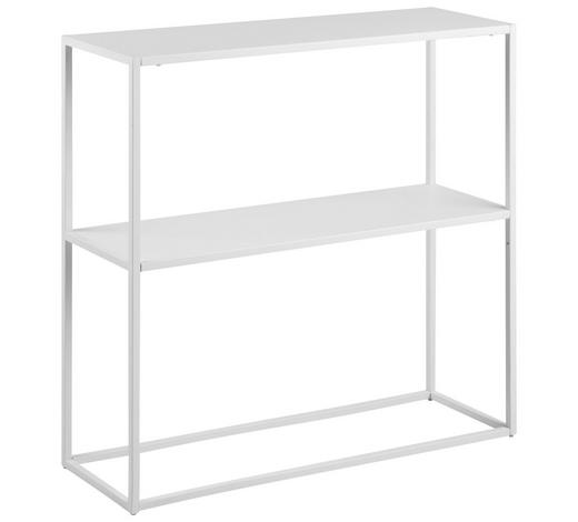 REGAL in 79,5/80,5/26 cm Weiß - Weiß, Trend, Metall (79,5/80,5/26cm) - Carryhome