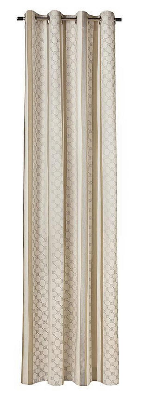 ÖSENSCHAL  blickdicht  140/250 cm - Hellbraun/Creme, Design, Textil (140/250cm) - Joop!