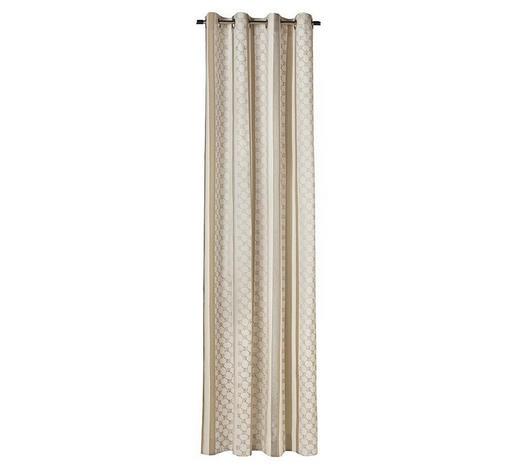 ÖSENVORHANG blickdicht - Hellbraun/Creme, Design, Textil (140/250cm) - Joop!