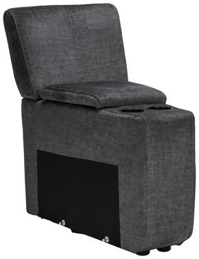 SOFFMODUL - svart/grå, Klassisk, metall/trä (58/24/103/98cm)