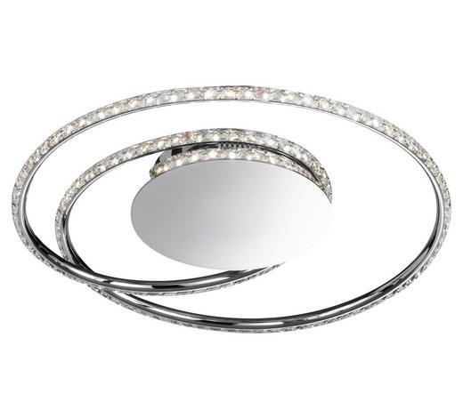 LED-DECKENLEUCHTE - Chromfarben, Design, Metall (45/13cm)