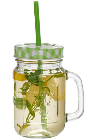 TRINKGLAS 450 ml  - Transparent/Grün, Trend, Glas (0,45l) - Homeware