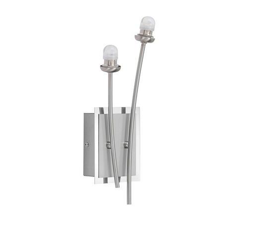 LED-WANDLEUCHTE - Chromfarben/Nickelfarben, Design, Metall (31,5/10,5/8cm)
